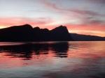 Sunset from  Vitznau over Lake Lucerne